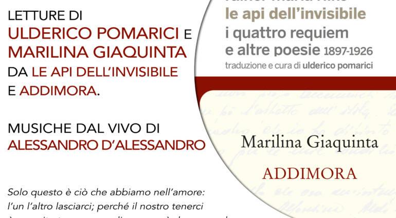Letture di Ulderico Pomarici e Marilina Giaquinta