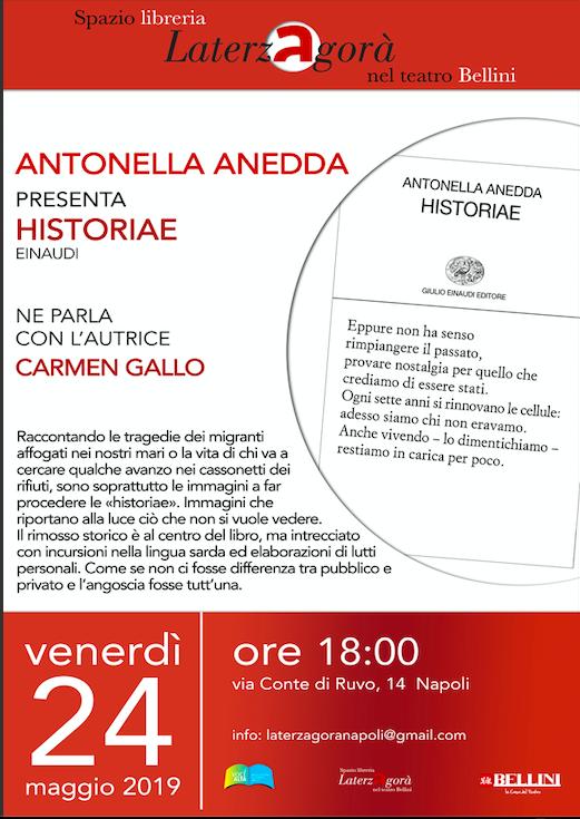Antonella Anedda e le sue 'Historiae'
