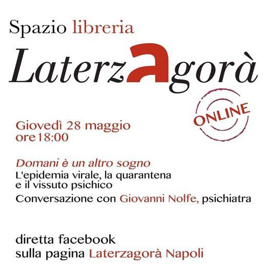 Domani è un altro sogno e ne parliamo con Giovanni Nolfe il 28 maggio a #Laterzagoràlive.