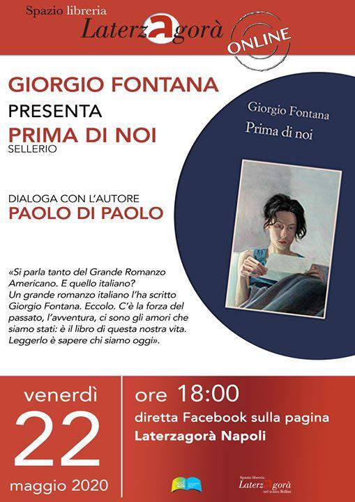 """Giorgio Fontana, autore di """"Prima di noi"""", dialoga con Paolo Di Paolo."""